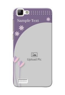 Vivo Y35 lavender background with flower sprinkles Design Design