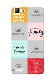 Vivo Y35 4 image holder with multiple quotations Design