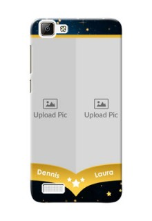 Vivo Y35 2 image holder with galaxy backdrop and stars  Design
