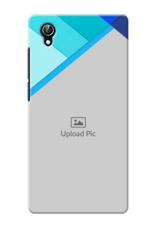 Vivo Y51L Blue Abstract Mobile Cover Design