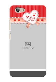 Vivo Y53 Red Pattern Mobile Cover Design