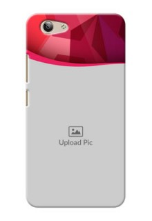 Vivo Y53 Red Abstract Mobile Case Design