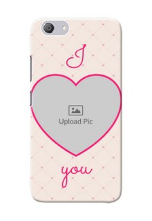 Vivo Y53i Personalized Mobile Covers: Heart Shape Design