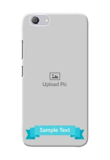 Vivo Y53i Personalized Mobile Covers: Simple Blue Color Design