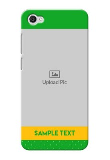 Vivo Y55L Green And Yellow Pattern Mobile Cover Design