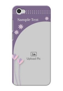 Vivo Y55L lavender background with flower sprinkles Design Design