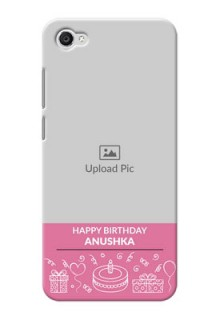 Vivo Y55L plain birthday line arts Design Design