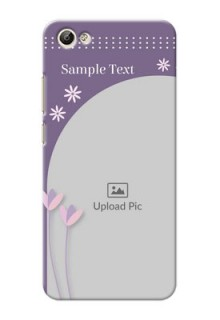 Vivo Y66 lavender background with flower sprinkles Design Design