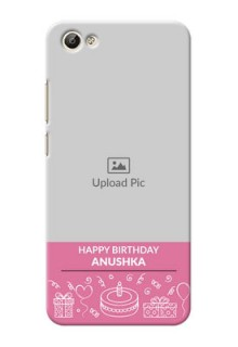 Vivo Y66 plain birthday line arts Design Design