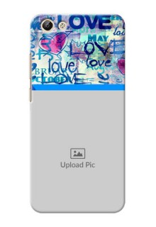 Vivo Y69 Colourful Love Patterns Mobile Case Design