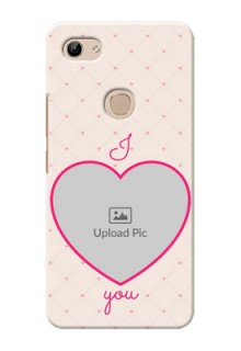 Vivo Y81 Personalized Mobile Covers: Heart Shape Design