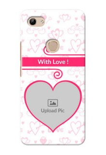 Vivo Y81 Personalized Phone Cases: Heart Shape Love Design