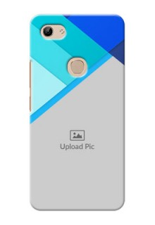 Vivo Y81 Phone Cases Online: Blue Abstract Cover Design