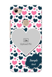 Vivo Y81 Mobile Covers Online: Pink & Blue Heart Design