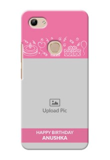 Vivo Y81 Custom Mobile Cover with Birthday Line Art Design