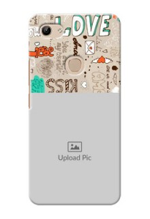 Vivo Y81 Personalised mobile covers: Love Doodle Pattern