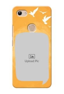 Vivo Y81 Phone Covers: Water Color Design with Bird Icons
