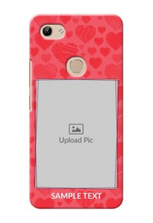 Vivo Y81 Mobile Back Covers: with Red Heart Symbols Design