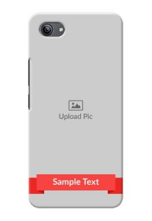 Vivo Y81i Personalised mobile covers: Simple Red Color Design