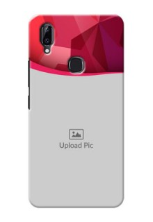 Vivo Y83 Pro custom mobile back covers: Red Abstract Design