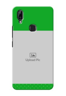 Vivo Y83 Pro Personalised mobile covers: Green Pattern Design