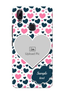 Vivo Y83 Pro Mobile Covers Online: Pink & Blue Heart Design