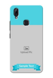 Vivo Y83 Pro Personalized Mobile Covers: Simple Blue Color Design