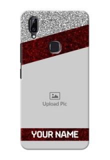 Vivo Y83 Pro Mobile Cases: Image Holder with Glitter Strip Design