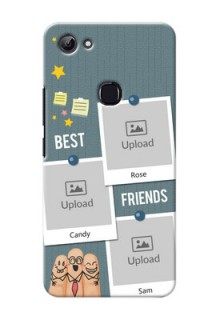 Vivo Y83 3 image holder with sticky frames and friendship day wishes Design