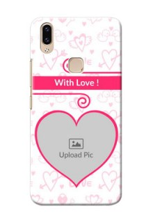 Vivo Y85 Personalized Phone Cases: Heart Shape Love Design