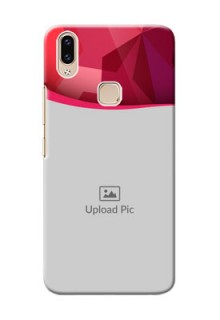Vivo Y85 custom mobile back covers: Red Abstract Design