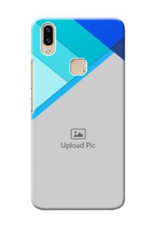 Vivo Y85 Phone Cases Online: Blue Abstract Cover Design