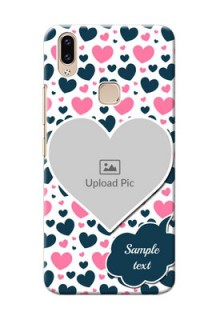 Vivo Y85 Mobile Covers Online: Pink & Blue Heart Design