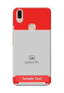 Vivo Y85 Personalised mobile covers: Simple Red Color Design