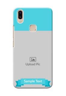 Vivo Y85 Personalized Mobile Covers: Simple Blue Color Design