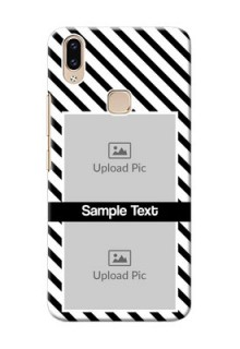 Vivo Y85 Back Covers: Black And White Stripes Design