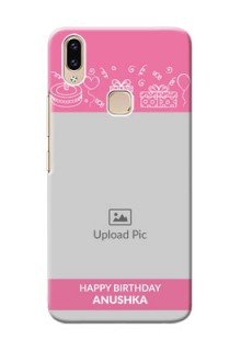 Vivo Y85 Custom Mobile Cover with Birthday Line Art Design