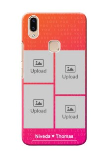 Vivo Y85 custom back covers: I Love You Pink Design