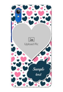 Vivo Y90 Mobile Covers Online: Pink & Blue Heart Design