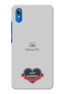 Vivo Y90 mobile back covers online: Just Married Couple Design