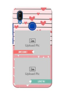 Vivo Y91 custom mobile covers: Photo with Heart Design