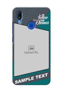Vivo Y91 Back Covers: Background Pattern Design with Quote