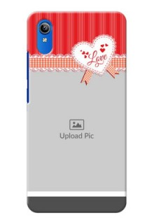 Vivo Y91i phone cases online: Red Love Pattern Design