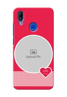 Vivo Y93 Mobile Covers Online: Pink Pattern Design