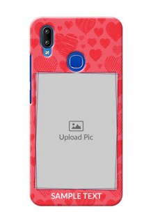 Vivo Y95 Mobile Back Covers: with Red Heart Symbols Design