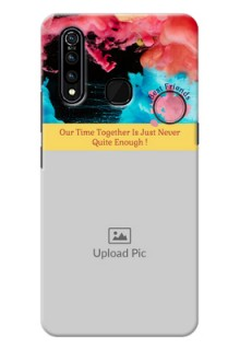 Vivo Z1 Pro Mobile Cases: Quote with Acrylic Painting Design