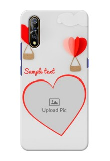 Vivo Z1x Phone Covers: Parachute Love Design