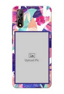 Vivo Z1x Personalised Phone Cases: Abstract Floral Design