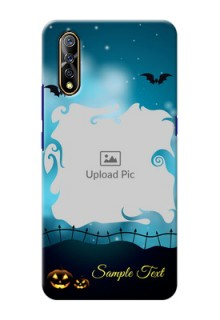 Vivo Z1x Personalised Phone Cases: Halloween frame design