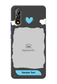 Vivo Z1x Mobile Back Covers: splashes with love doodles Design